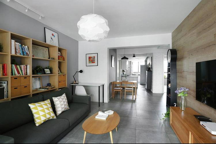 香山半岛北欧风格客厅装修效果图