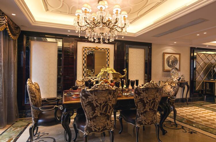 东湖国际欧式风格效果图之餐厅
