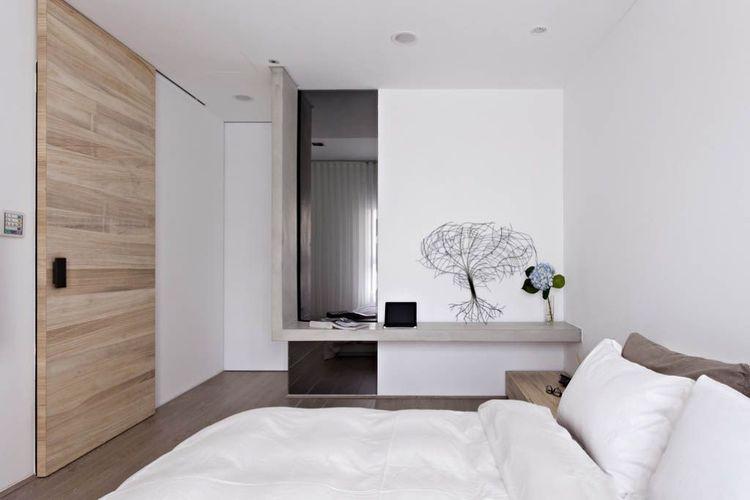 卧室乳胶漆白色效果图二