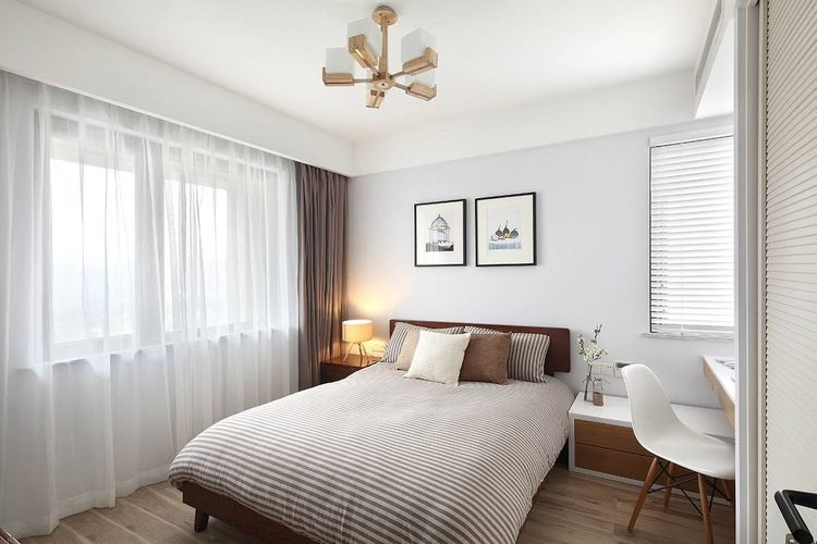 卧室乳胶漆白色效果图三