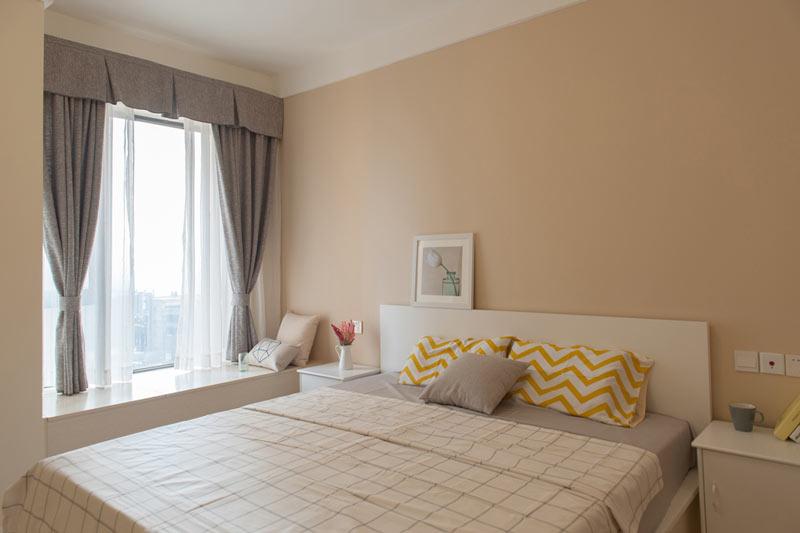 卧室乳胶漆黄色效果图二