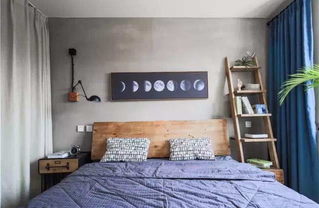 卧室乳胶漆灰色效果图二