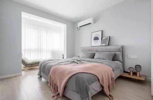 卧室乳胶漆灰色效果图三