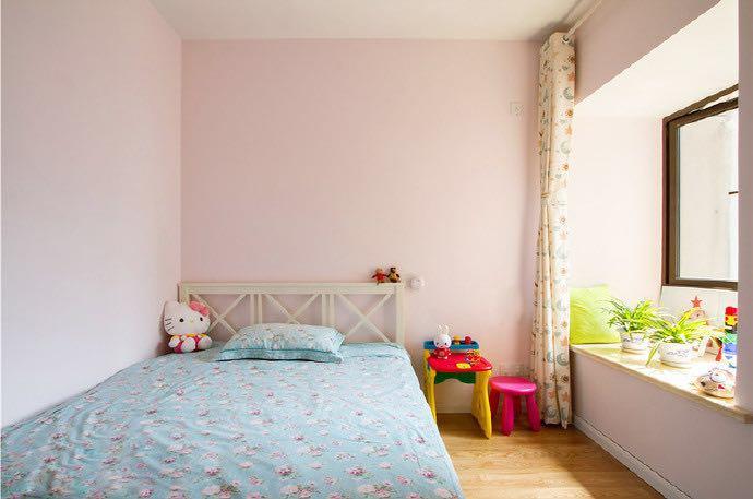 卧室乳胶漆粉色效果图三