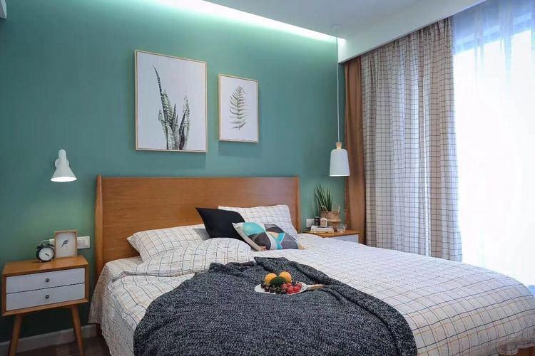 卧室乳胶漆绿色效果图二