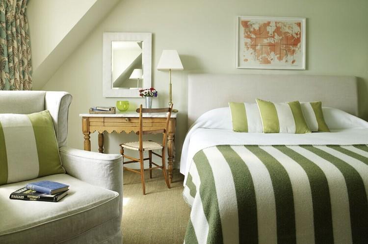 卧室乳胶漆绿色效果图三