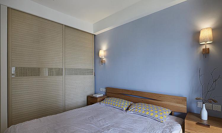 卧室乳胶漆蓝色效果图三