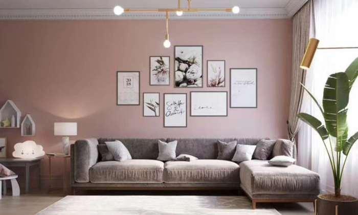 香芋紫北欧风格客厅