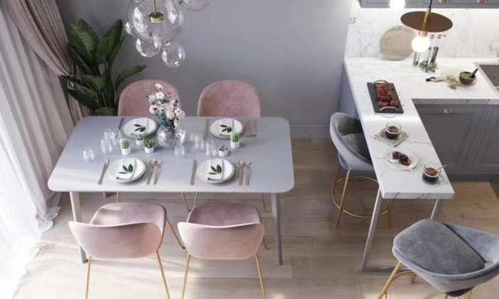 香芋紫北欧风格餐厅