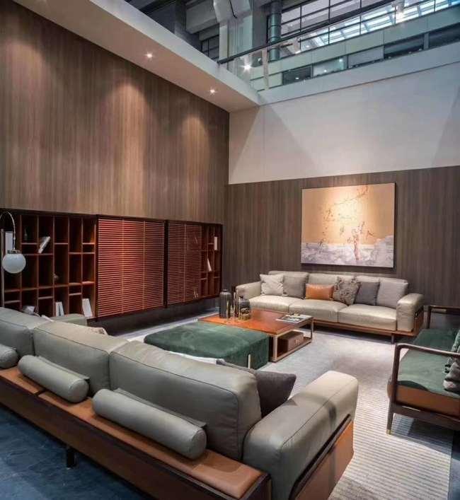 新中式装修特点介绍之会客厅